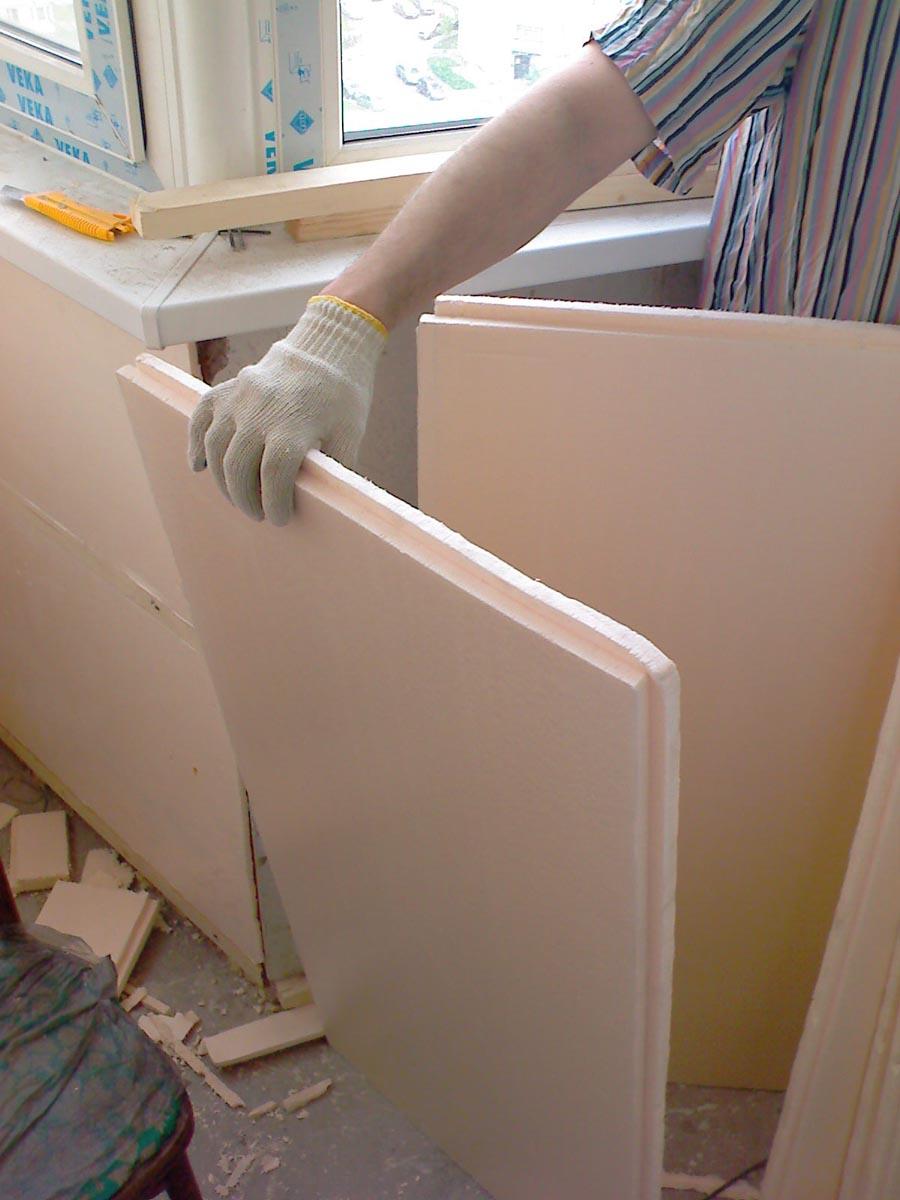 обшивка балконов утепление фото